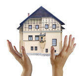Gift of house — Stock Photo