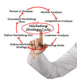 Marketing strategy cycle — Stockfoto