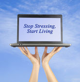 Stop Stressing. Start living. — Stock Photo