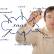 Diagram of SAAS use — Stock Photo #36661203