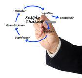 Zarządzanie łańcuchem dostaw — Zdjęcie stockowe