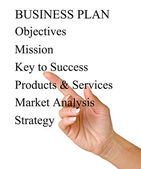 Presentation of business plan — Stock Photo