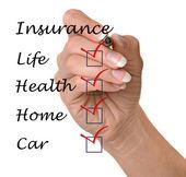 Insurance list — Stockfoto