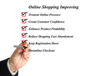 Online shopping improving — Stock Photo