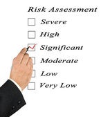 Risk assessment checkbox — Stock Photo