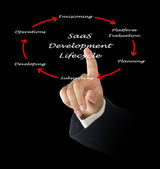 Saas development lifecycle — Stock Photo