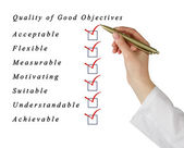 Quality of good objectives — Stock Photo