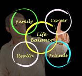 Schemat bilansu życia — Zdjęcie stockowe