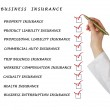 Stock Photo: Check list for business insurance