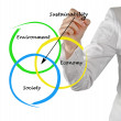 Stock Photo: Presentation of diagram of sustainability