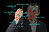 Team values and norms — Stockfoto