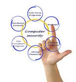 Diagrama de segurança informática — Foto Stock