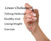 List to lower cholesterol — Stockfoto