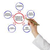 Pianificazione delle risorse di impresa — Foto Stock