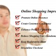 Stock Photo: Online shopping improving