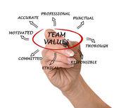 Normas y valores del equipo — Foto de Stock