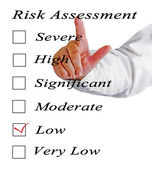 Evaluation of risk level — Stockfoto