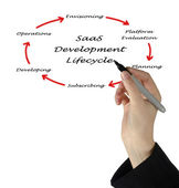 Saas development lifecycle — Stock Photo