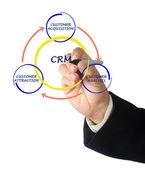 Crm-diagram — Stockfoto