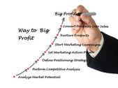 Way to big profit — Stock Photo