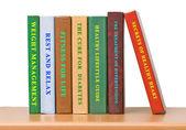 Shelf with books — Stock Photo