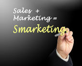Vendas marketing smarketing — Foto Stock