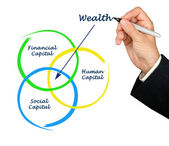 Wealth diagram — Foto de Stock
