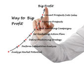 Way to Big Profit — Stock Photo