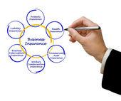 Diagram obchodního pojištění — Stock fotografie