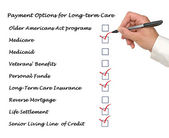 Payment Options for Long-term care — Stock Photo