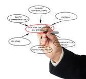 Sieci społeczne w biznesie — Zdjęcie stockowe