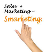 Sales Marketing Smarketing — Stock Photo