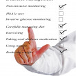 Checklist for diabetes managment — Stock Photo #41344931