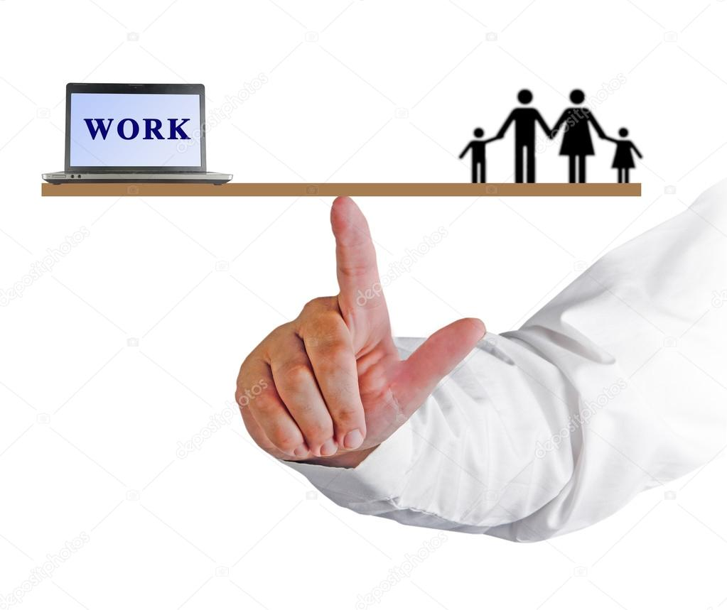 balancing work and family Work–life balance is the term used to describe the balance that an individual needs between time allocated for work and other aspects of life areas of life other than work-life can be, but.