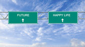 Future and happy life — Stockfoto