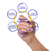 Diagram of business insurance — Zdjęcie stockowe