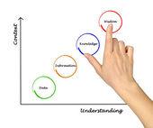 Diagram of knoweledge — Stock Photo