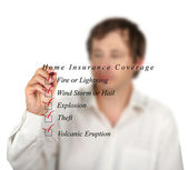 Home insurance coverage — Stok fotoğraf