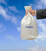 Collecting taxes — Stock Photo