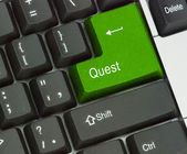 Keyboard with Hot key for quest — Stock Photo