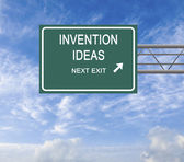 Road sign to invention idea — Stock Photo