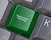 Keyboard with key for Retirement planning — Stock Photo