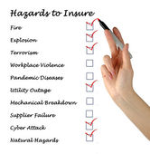 Hazards to insure — Stock Photo