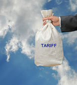 Bag with tariff — Stock Photo