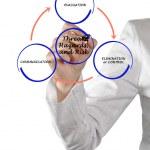 Diagram of risk management — Stock Photo #43471003