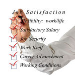 Job satisfaction list — Stock Photo