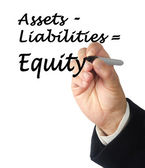 Equity equation — Stock Photo