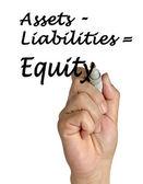 """""""equity"""" vergelijking — Stockfoto"""