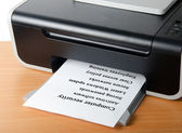 Printing list of computer sequrity tips — Stock Photo
