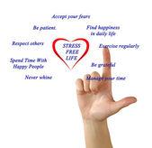 Stress free lifestyle tips — Stock Photo